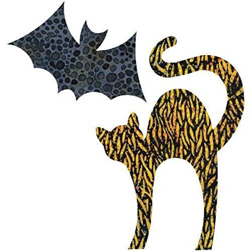 AccuQuilt GO! Fabric Cutting Dies-Cat 5-1/8''X7-3/8 & Bat 5-1/8''X3 by AccuQuilt