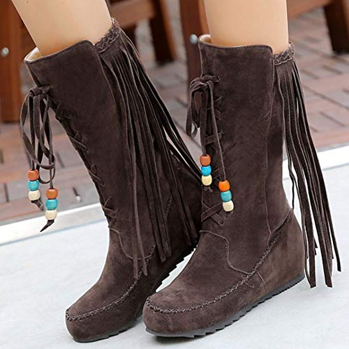 On Melady Pull Boots Half dark brown 3 Classic Women Fringe w4Y4pxqT7A