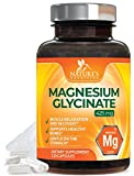 Magnesium Glycinate Lysinate Max Potency 425 mg – High Absorption Magnesium Supplement in Chelated Form for Gentle Digestion, Non-GMO, Vegan, Gluten & Soy Free by Nature's Nutrition – 120 Capsules