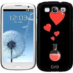 Funda para Samsung Galaxy S3 (GT-I9300) - Friki Frasco De Corazones by Boriana Giormova