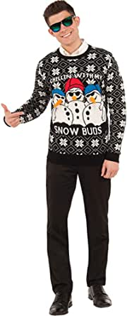 Forum Novelties Mens 77728/29/30 Ugly Christmas Sweater, Snow Buds Adult-Sized Costume
