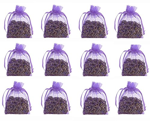 The Ambient Collection 12 pcs French Lavender Dry Flower - 10 Grams Each of Dried Flower Buds Naturally Scented - Aromatic Ogra