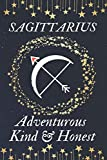 SAGITTARIUS Adventurous Kind & Honest: Horoscope gifts. This Zodiac Notebook / Zodiac Journal is 6x9in size with 110+ lined ruled pages. They make ... Sagittarius Horoscope gifts. Birthday gifts f