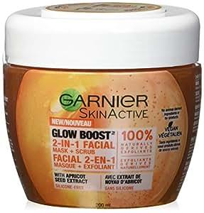 Garnier SkinActive Glow Boost 2-in-1 Facial Mask and Scrub, 6.76 fl oz