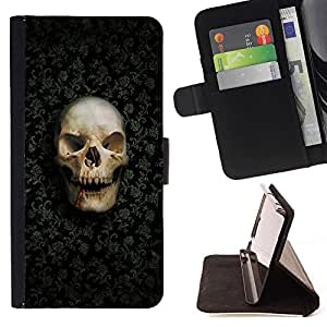 For Sony Xperia m55w Z3 Compact Mini Design Skull Pattern Style PU Leather Case Wallet Flip Stand Flap Closure Cover
