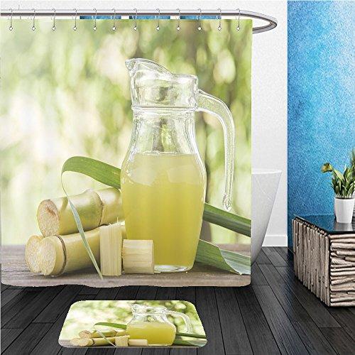 Beshowereb Bath Suit: ShowerCurtian & Doormat fresh squeezed sugar cane juice in pitcher with cut pieces cane on nature background 348902039 De Paris Pitcher