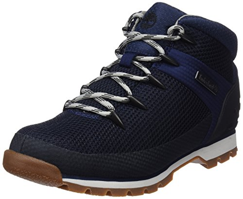 Timberland Mens Euro Sprint Fabric Walking Durable Hiking Ankle Boot - Navy - 9.5