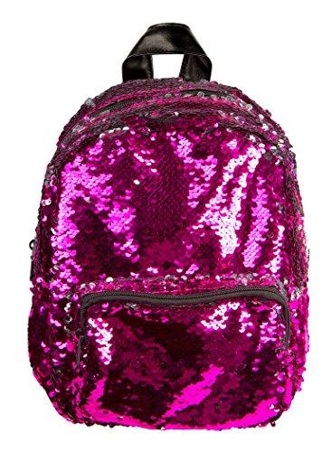 BG-709-76624 Mini Sequin Backpack - Hot Pink -