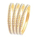 Sukkhi Bangle for Women (Golden) (B71518ADRL550_2.6)