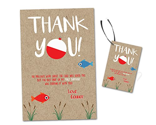 Amazon Fishing Birthday Thank You Cards Party Favor Tags Boy