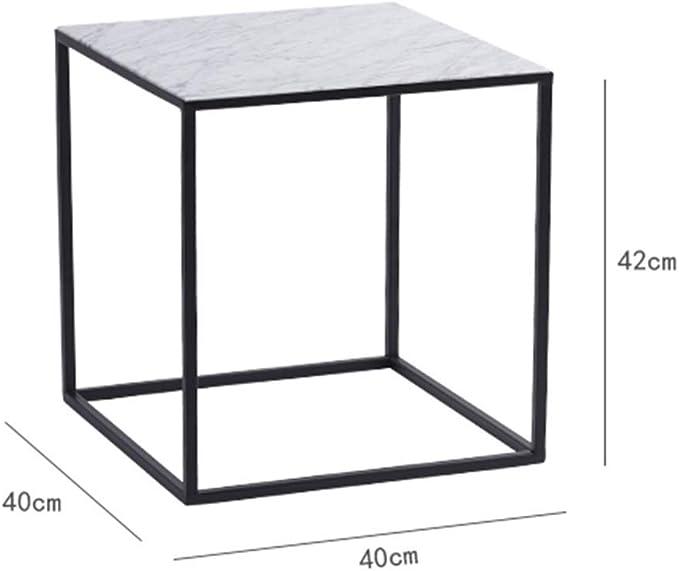 YZjk Mesa de Centro Negra, Textura de mármol Mesa de Centro de ...
