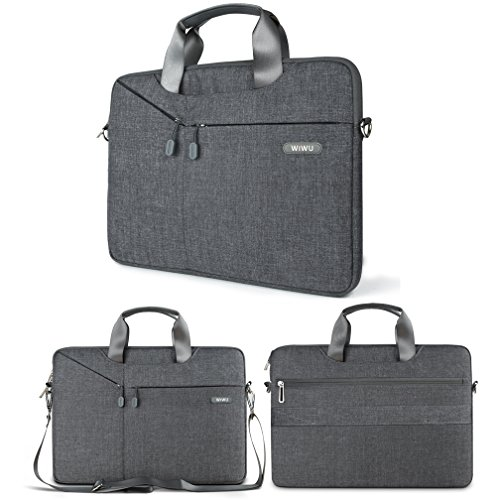 (WIWU Multifunctional Business Briefcase Luxury Portable Laptop Sleeve Case Carrying Messenger Bag for 13