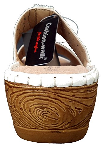 White Back Cushion in Annie Sandals Open Walk Womens qwpZY