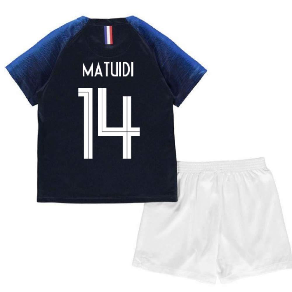 UKSoccershop 2018-2019 France Home Nike Mini Kit (Blaise Matuidi 14)