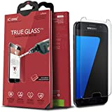 iCarez Premium Tempered Glass Screen Protector for Samsung Galaxy S7 9H Anti-Scratch Easy Install with Lifetime Replacement Warranty - Retail Packaging