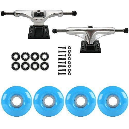 スケートボードパッケージCoreシルバー5.25 Trucks 52 MmシアンブルーABEC 7 Bearings [並行輸入品]   B078WW9X72
