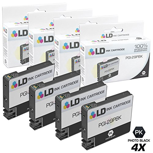 LD Compatible Ink Cartridge Replacement for Canon PGI-29PBK (Photo Black, 4-Pack)