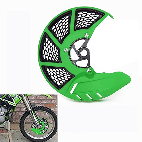 (Front Brake Disc Guard Case Cover Protector - Kawasaki KX125 KX250 KX250F KX450F KLX450R - Green )