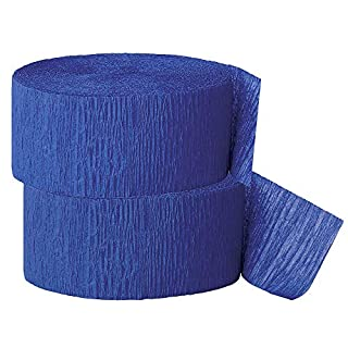Crepe Paper Streamer, 81 Feet (2 Piece) - Party Supplies for Parties, Baby Shower, Bridal Shower (Navy)
