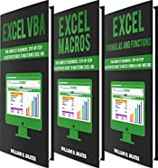Excel Master: The Complete 3 Books in 1 for Excel - VBA for Complete Beginners, Step-By-Step Guide to Master Macros and Formulas and Functions