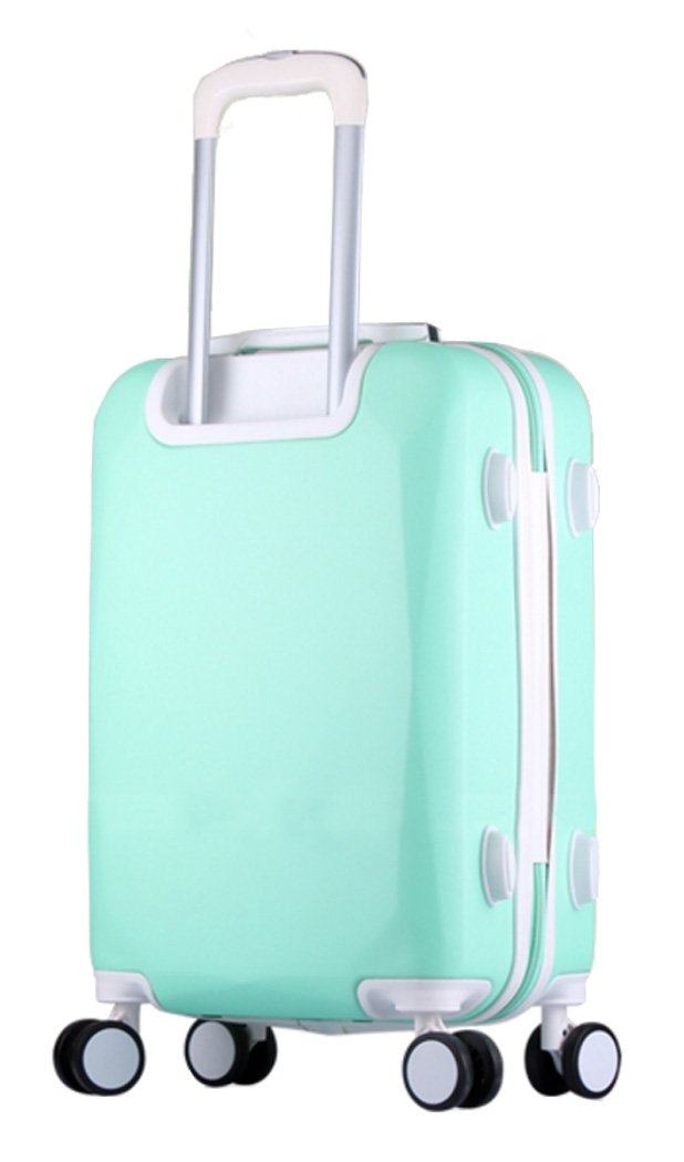 a5347cc32c96 Song Luggage Spinner Luggage ABS Trolley Travel Lightweight Hardshell  Suitcase - 26 Inch Mint Green Set