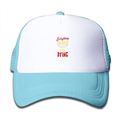 Mkajkkok Everything Hurts and I'm Dying Adjustable Truck Cap For Children.