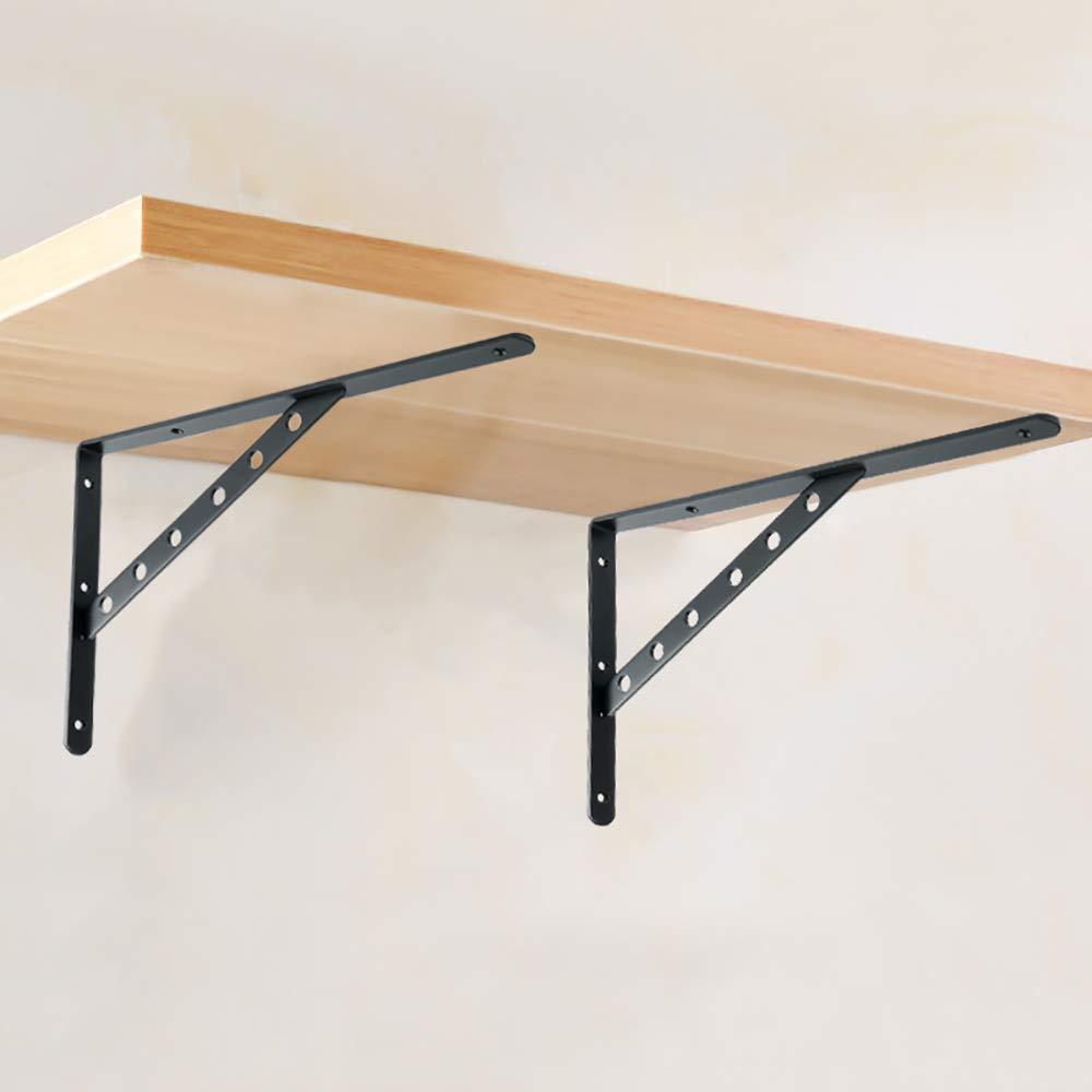 Alise 2 Pcs Stainless Steel Shelf Bracket Supports 6x4-1//5 Inch,Matte Black FBA/_JK007-2P