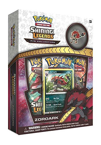Pokemon TCG: Shining Legends Pin Collection - Zoroark, Premium Collectible Trading Card Set, Includes 3 Booster Packs, 1 Ultra Rare Foil Promo Card, 1 Collectors Pin, Online Code Card