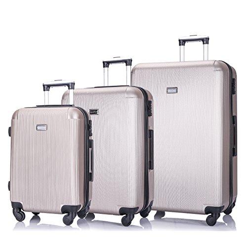 3 PC Luggage Set Durable Lightweight Hard Case pinner Suitecase ()
