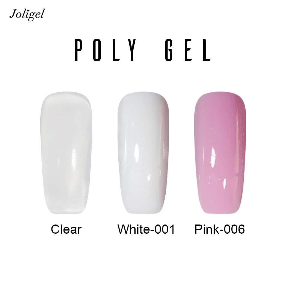 Joligel Poli Gel Constructor para Extensión de Uñas Polygel UC LED para Manicura Profesional, Uso Fácil Resultado Rápido, Color Transparente: Amazon.es: ...