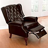 Brylanehome Tufted Wingback Recliner (Brown)