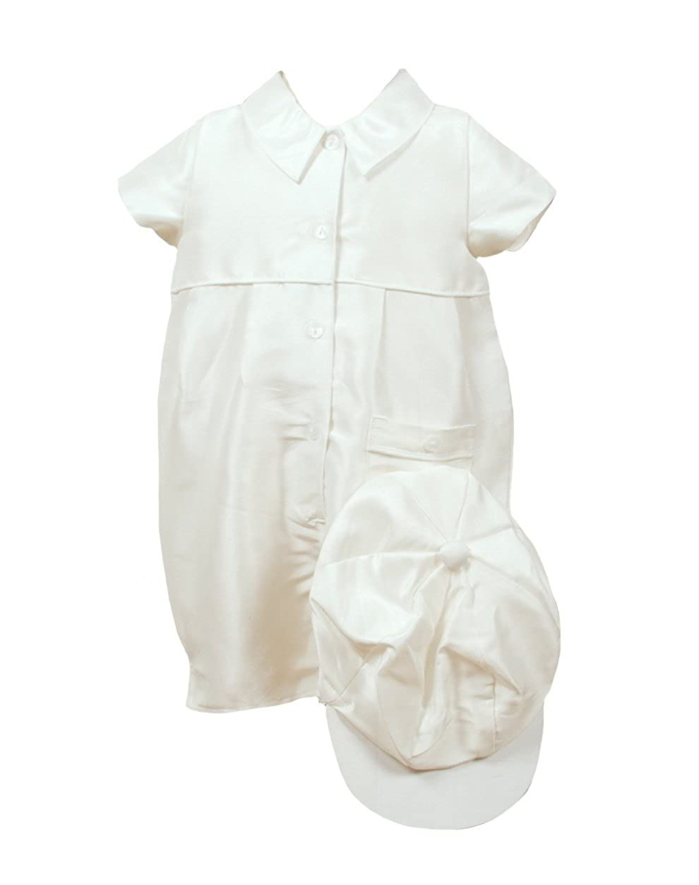 Heritage \'Caine\' Silk Christening Romper With Matching Cap 3 to 6 Months Heritage Christening - Mini Vanilla Ltd Caine S 36