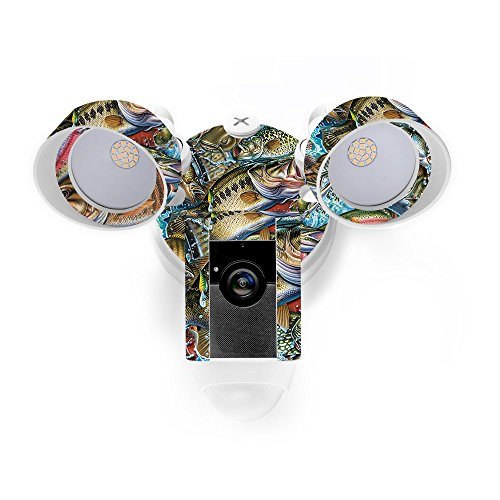MightySkins Skin for Ring Floodlight Cam - Action Fish Puzzle | Protective, Durable, and Unique Vinyl Decal wrap Cover | Easy to Apply, Remove, and Change Styles | Made in The USA