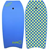 KONA SURF CO. Sumo Bodyboard in Blue/Lime Checker sz:48in