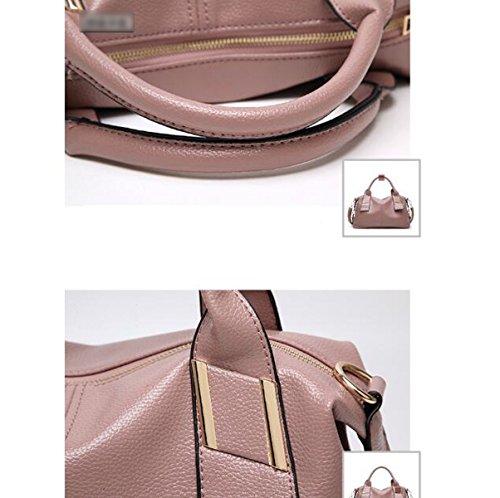 Mujer Estilo Nuevo Otoño Invierno Color Sólido De Gama Alta Solo Bolso De Hombro Bolso Bolso De Hombro Inclinado Pink