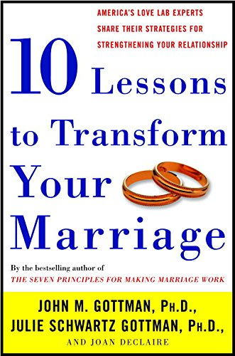 Ten Lessons to Transform Your Marriage: America's Love Lab Experts Share Their Strategies for Strengthening Your Relationship cover