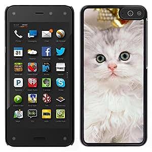 LECELL--Funda protectora / Cubierta / Piel For Amazon Fire Phone -- Nebelung gatito gato persa de Siberia --