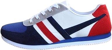 MISSWongg _Zapatos para Hombre Pelusa inversa Lona Zapatos ...