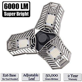 Garage Lighting 80w Led Garage Lights 8000lm E26 Garage