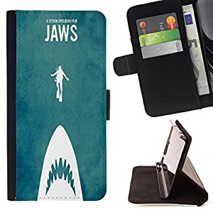 Dragon Case- Caja de la carpeta del caso en folio de cuero del tir¨®n de la cubierta protectora Shell FOR LG Optimus G2 D800 D801 D802 D803 VS980 F320- Shark Sea