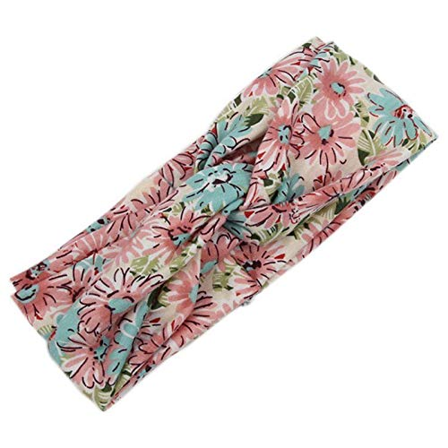 rs Broad Stretch Hairband Elastic Cotton Ribbon Flowers S2E8 ()
