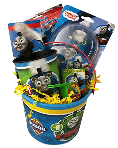 by Thomas Prefilled Little Boy Toddler Gift with Train Themed Toy Game Activity Age 3 Up (Toy Sticker Set)