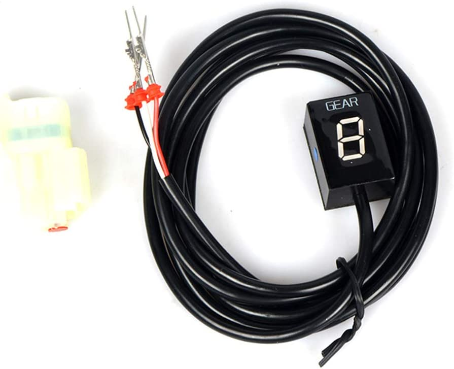 MeterMall 1-6 Indicador de Marcha LED Rojo para Honda CB500 CBR500RR CB650F CBR650F CB400F