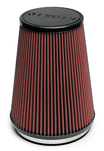 Airaid 701-469 Universal Clamp-On Air Filter: Round Tapered; 6 in (152 mm) Flange ID; 9 in (229 mm) Height; 7.25 in (184 mm) Base; 5 in (127 mm) Top