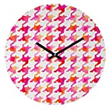 """Deny Designs Betsy Olmsted, Watercolor Houndstooth, Round Clock, Round, 12"""": more info"""