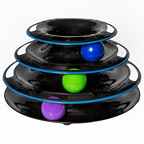 Easyology Amazing Roller Cat Toy - Cat Toys Interactive Fun with 3-Levels - Kitty Cat Charmer for Interactive Play and Exercise for Kittens - Cat Teaser Kitty Toys and Best Cat Toys