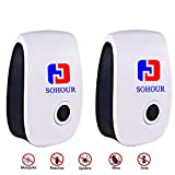 SOHOUR Ultrasonic Insect Killer- [2018 UPGRADED]. Repels Ants, Roaches, Fleas, Rats, Bugs, Fruit Fly, Cockroaches and More, No More Insect Sprayers & Mouse Trap (2 pack)