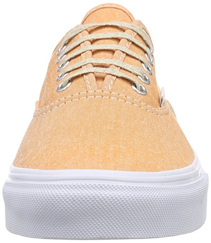 Vans Authentic Slim, Sneakers Basses mixte adulte, Orange (Chambray/Coral/True White), 43 EU (9 UK)