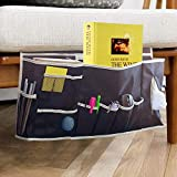 Glin Bedside Caddy, 12 Various Pockets Perfect College Dorm Room Bunk Bed Bedside Organizer,Durable Stable Material Bed Caddy,Large Size Holds Your Laptop,Books,Tablet,Phone More