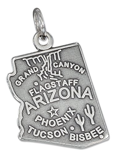 Sterling Silver Antiqued Arizona State Charm ()
